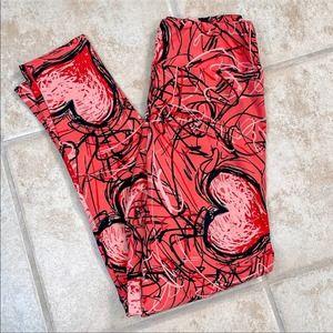 LuLaRoe Valentine Day Leggings, OS
